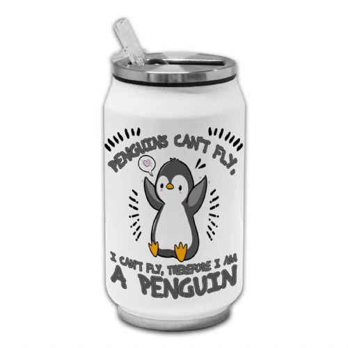 Penguins Can't Fly, I Can't Fly... Funny Novelty Novelty Thermos Drinking Can